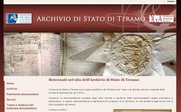 Realizzazione sito web Archivio di Stato di Teramo